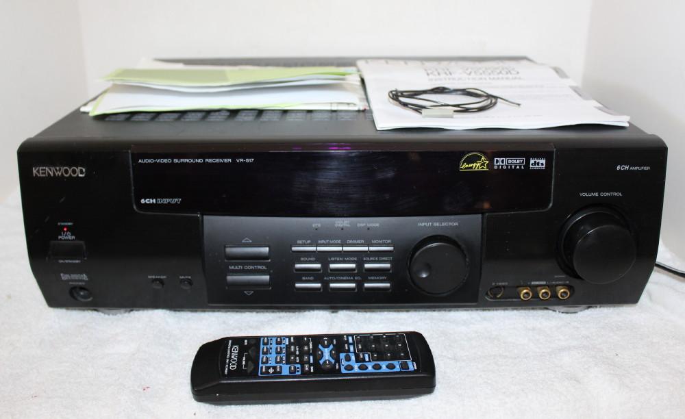 kenwood vr 517 stereo am fm receiver remote manual av control rh ebay com Kenwood Receiver Operator Manuals Kenwood Manuals DNX9960