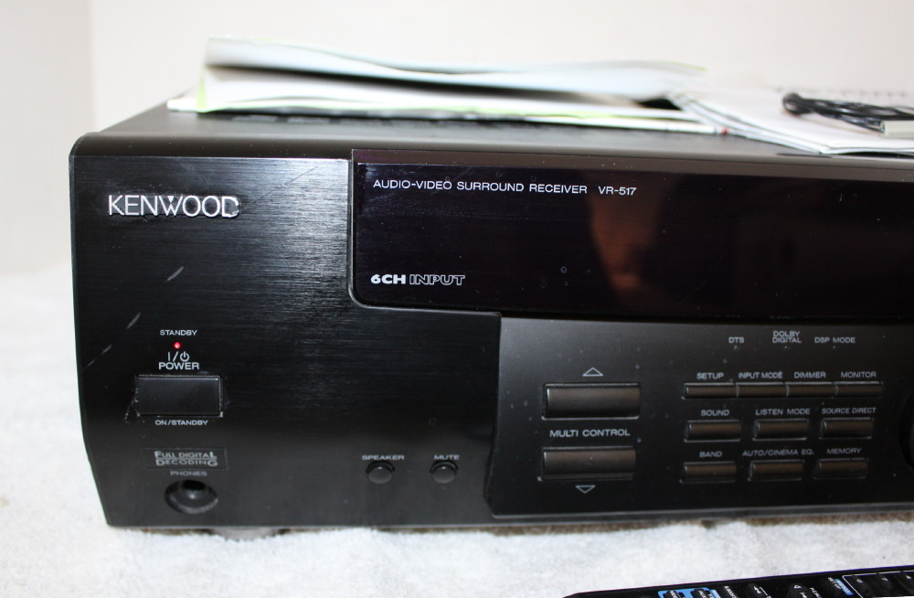 kenwood vr 517 stereo am fm receiver remote manual av control rh ebay com Kenwood Ham Radio Manuals Kenwood Instruction Manual