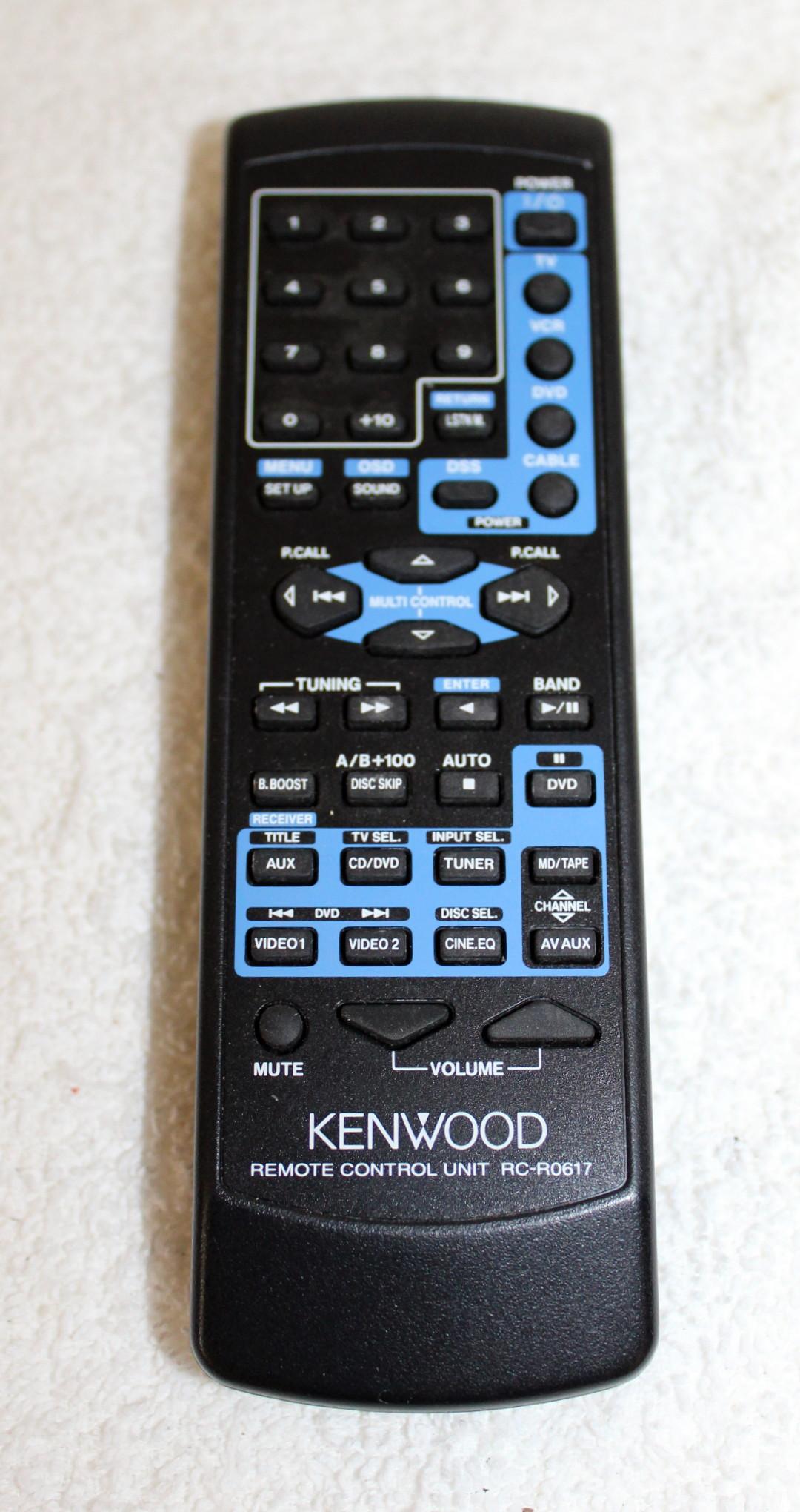 kenwood vr 517 stereo am fm receiver remote manual av control rh ebay com Kenwood Receiver Operator Manuals Kenwood Instruction Manual
