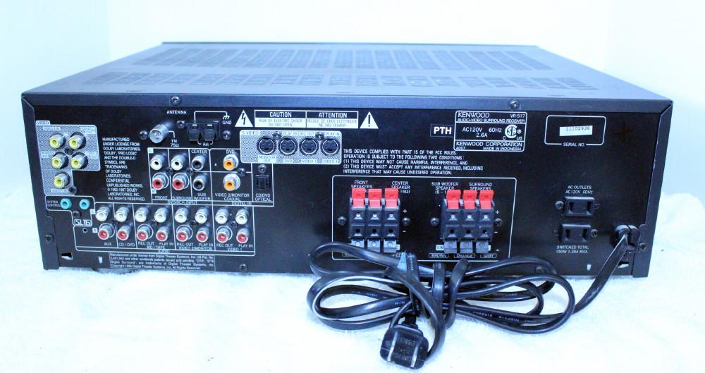 kenwood vr 517 stereo am fm receiver remote manual av control rh ebay com Kenwood Radios Kenwood Ham Radio Manuals